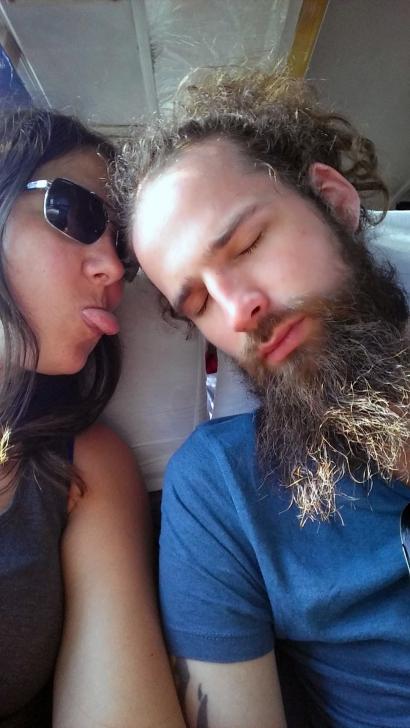 Sleeping bus photos.