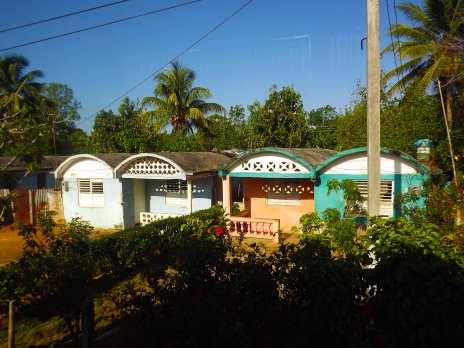 Colourful houses in a Cuban village.