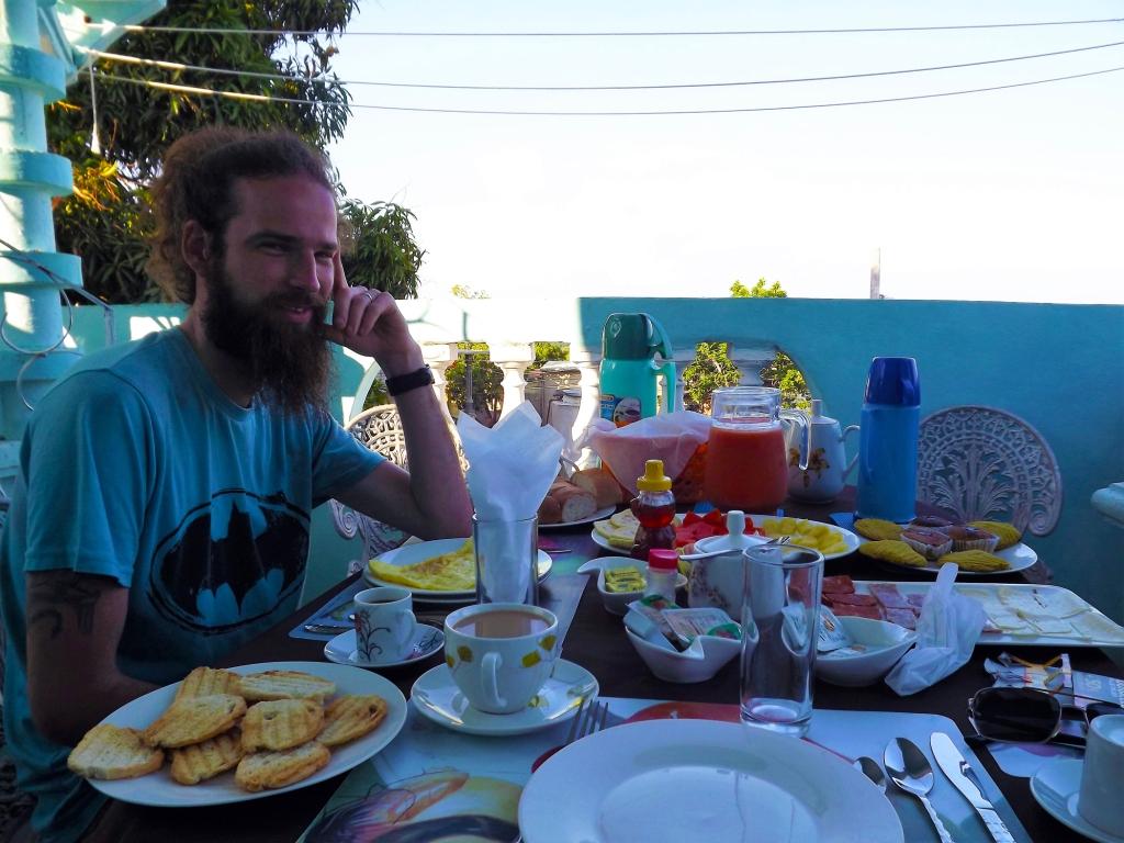 Cuban breakfast at a casa particulares.