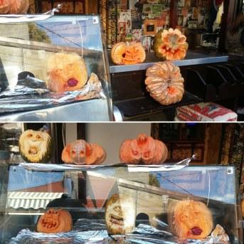 Pumpkins by the castle