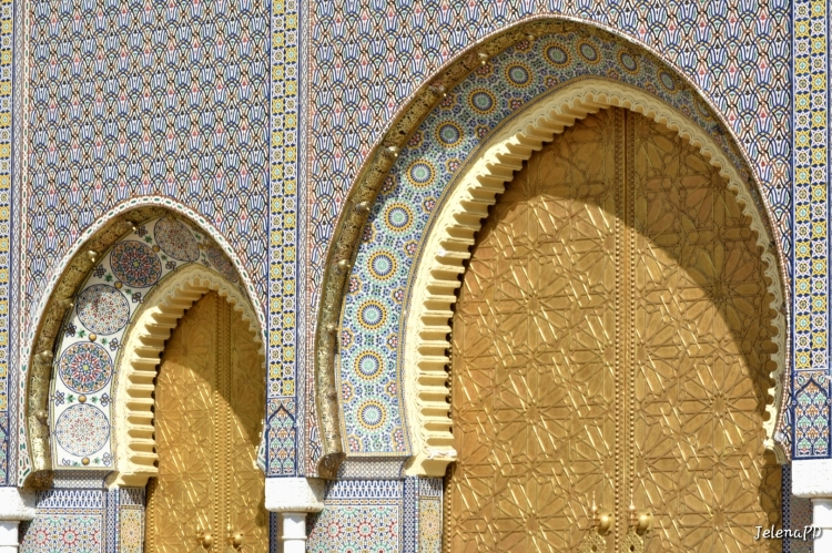 To properly enjoy the intricate design of Moroccan tiles, you must see them both from afar and from up close.