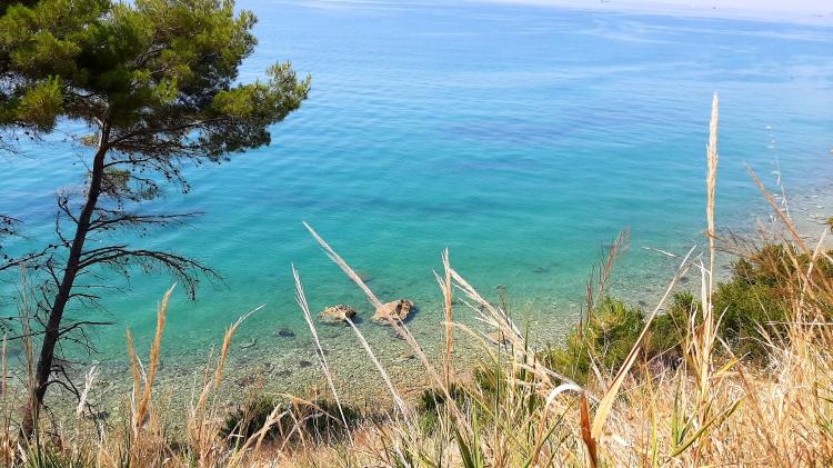 View of a wild beach close to Split