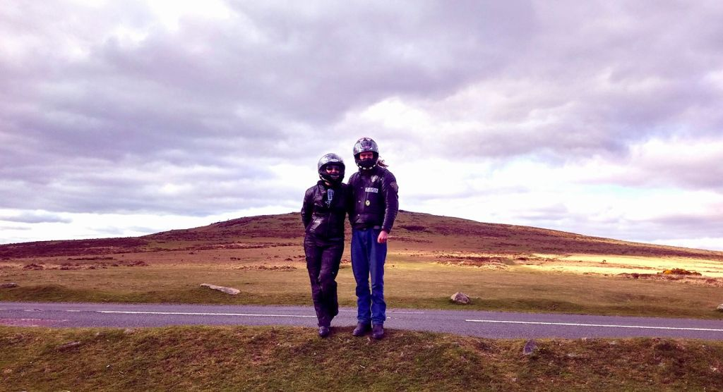 A quick photo in the middle of Dartmoor National Park